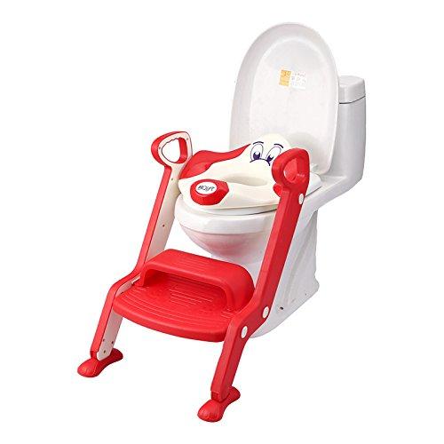 bTYzl step-childrenのトイレ、トイレエスケープ、ベビーFoldingアクセスラダー、補助トイレシートfor Children Ti レッド 6878587877025 B01NAGH3LE レッド