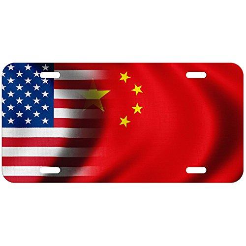 High Grade Aluminum License Plate - Flag of China (Chinese) - (China Flag License Plate)