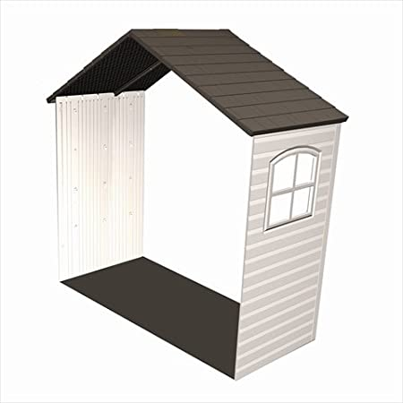 Lifetime 6424 30 Inch Shed Extension Kit with Window, Fits 8 Feet Wide Sheds Lifetime Products