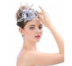 bf2b4b29d8423 Eeayyygch Sombrero - señoras Tocado de otoño e Invierno Sombreros de Novia  Europeos y estadounidenses Británica Elegante Accesorios de fotografía de  Boda ...