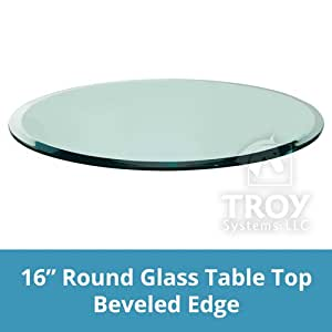 "Amazon.com: 16"" Inch Round Glass Table Top, 1/2"" Thick"
