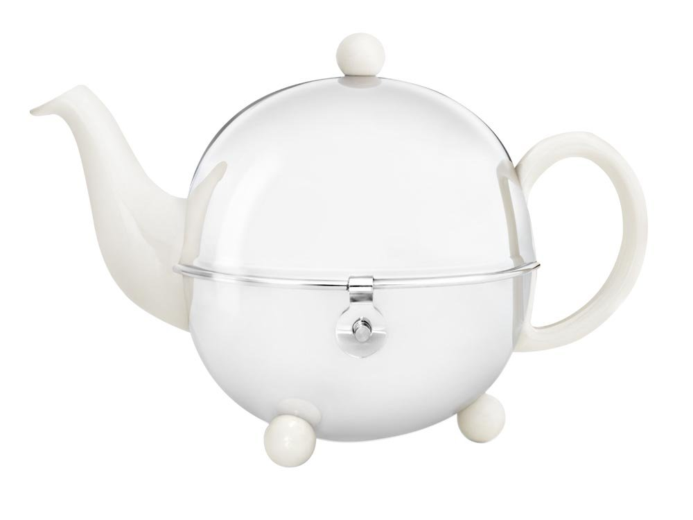 bredemeijer Cosy Teapot, 0.9-Liter, Ceramic Spring White with Insulated Shell