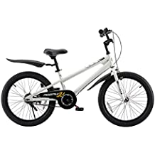 "RoyalBaby BMX Freestyle20"" Bike, Kids bikewith kickstand, Boy's Bikes and Girl's Bikes withfenders,20 inch bike, Gifts for children"