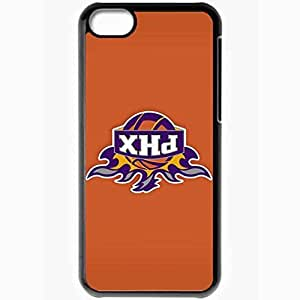Personalized iPhone 5C Cell phone Case/Cover Skin Nba Phoenix Suns 2 Sport Black