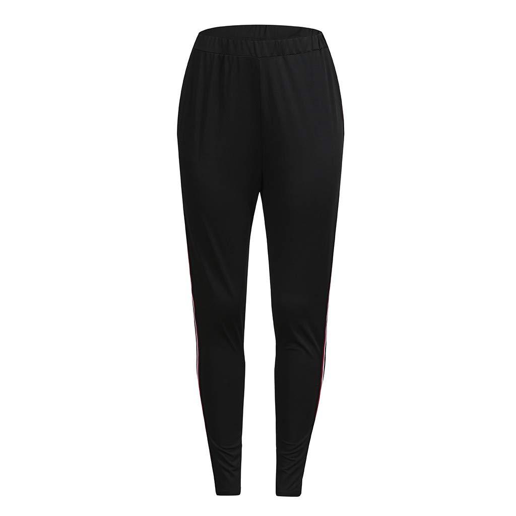Pantalones de Yoga para Mujeres con Rayas, ❤ Absolute Mujeres Tallas Grandes Elásticos Fitness Deportes Polainas Yoga Pantalones Deportivos Pantalones: ...