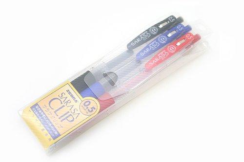 Zebra Sarasa Sarasa Sarasa Clip Gel Tinte Knock Kugelschreiber – 0,5 mm – 3 Farbe SET, schwarz, blau, rot, B0055QH0PW | Up-to-date Styling  18e4cf