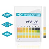 Jellas Universal pH Test Strips, Test Body Acid Alkaline pH Level or Water Quality, High Accuracy and Quick Readout, Full pH Range of 0 - 14. (100 Strips)