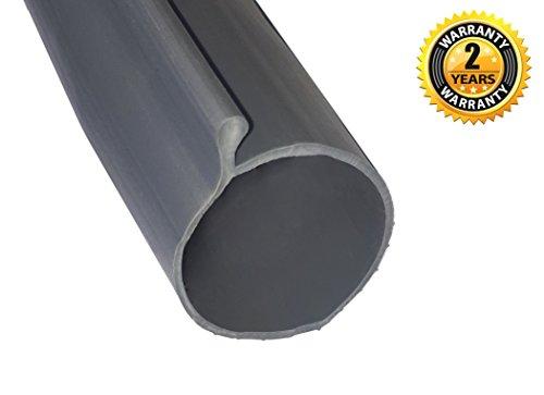 Garage Door P Bulb Bottom Seal Strip 20 Feet Grey With Single
