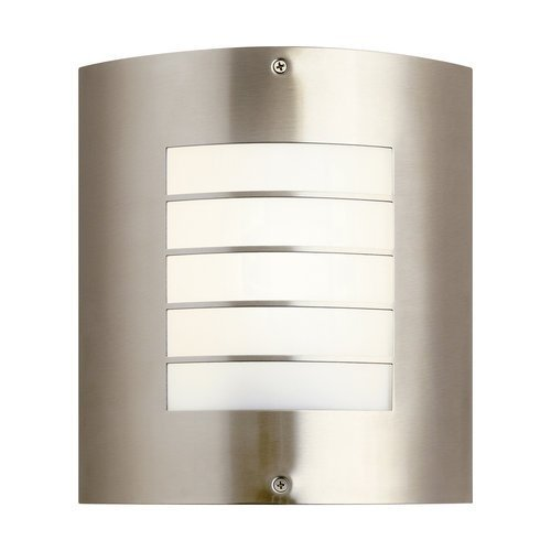 Kichler Lighting 10640NI Newport 1-Light CFL Outdoor Wall Mount, Brushed Nickel Finish with Polycarbonate Shade by Kichler - Nickel Newport 1 Light