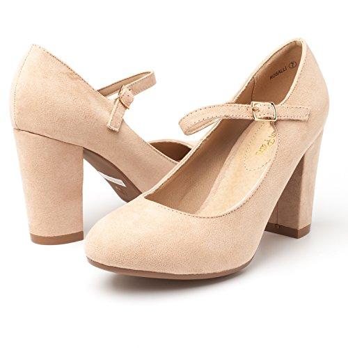 Women's Shoes Classic PAIRS Suede Nude Stiletto Heels Elegant DREAM Platform New Gloria Pumps Versatile Dress R1qSZE