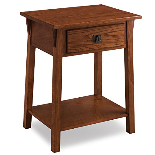 Solid Oak Bedside Table (Leick 9066-RS Favorite Finds Night Stand)