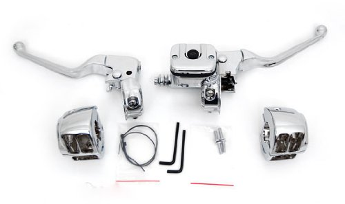 - Chrome Hand Controls for 1996-Up Single Disc Harley Handlebars SPORTSTER SOFTAIL 9/16