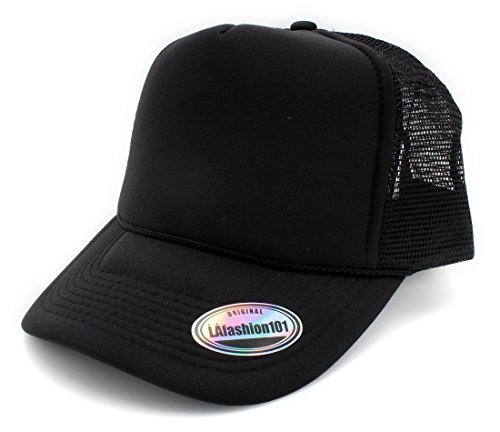 Premium Trucker Cap By LAfashion101 - Modern Urban Style Hat - Adjustable Snap Closure - Unisex Design - Mesh Back - (Jones Hat)