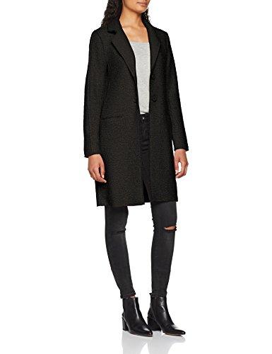 Only Onlvikki Wool Coat CC OTW, Manteau Femme Gris (Dark Grey Melange Dark Grey Melange)
