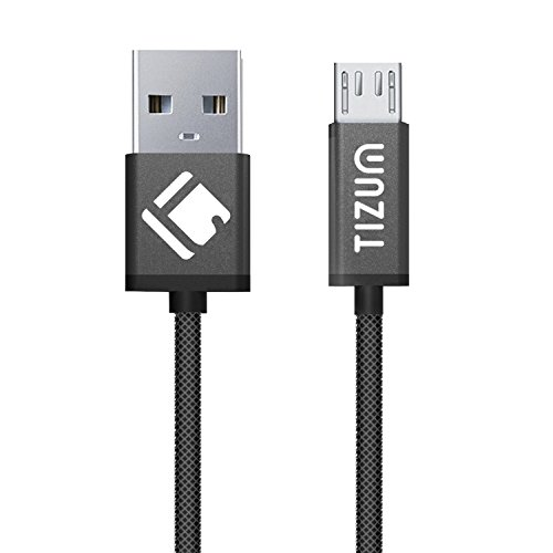 TIZUM Indestructible Micro-USB to USB Cable (1.2m/ 4 ft) Fast Charging (Black)
