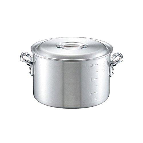 半寸胴鍋 日本製 中尾アルミ キングポット半寸胴鍋 目盛付 45cm 46.0L アルミ鍋 業務用鍋   B077PQP9Z4