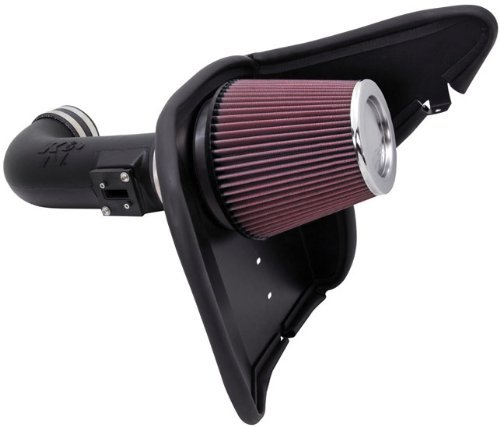 K&N Performance Air Intake Kit 63-3074 with Lifetime Red Oiled Filter for 2010-2015 Chevrolet Camaro SS 6.2L V8 by K&N