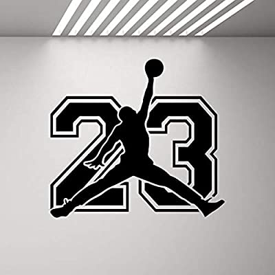 BFMBCH Cartel de baloncesto Pegatinas de pared Mural de deportes ...