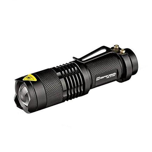 Eoncore 2Pcs 200 Lumens LED Flashlights Torch Handheld Flashlights 1 Mode Cree XR-E Q5 14500 Adjustable Focus Rechargeable