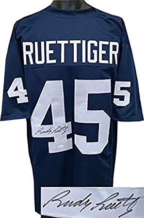 f64de549cc4 Signed Rudy Ruettiger Jersey - Navy TB Custom Stitched College Football XL  Witnessed Hologram - JSA Certified at Amazon's Sports Collectibles Store