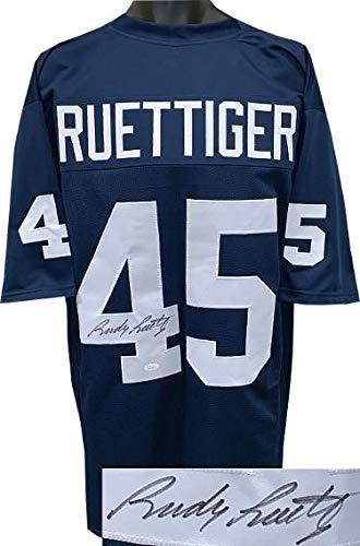 b87b211c4 Signed Rudy Ruettiger Jersey - Navy TB Custom Stitched College Football XL  Witnessed Hologram - JSA