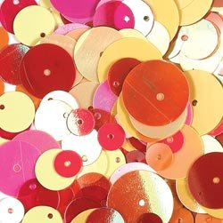 Doodlebug Designs Sequins - Square Round Raspberry Sunrise Collection