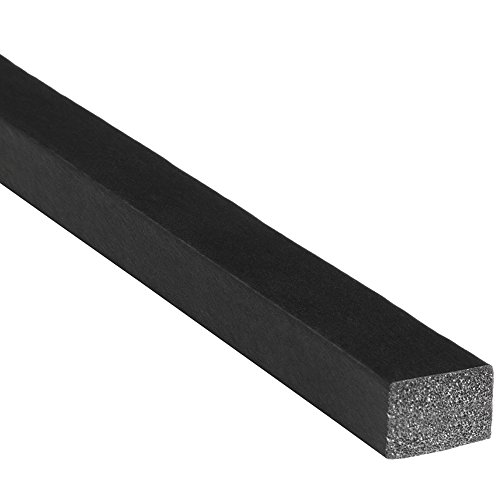 "Trim-Lok Solid Rectangle Rubber Seal – EPDM Foam Rubber Seal with High Tack (HT) Adhesive – Door & Window Weather Seal for Your Home, Car, Truck, RV or Boat – .38"" Height, .5"" Width, 500' Length by Trim-lok"