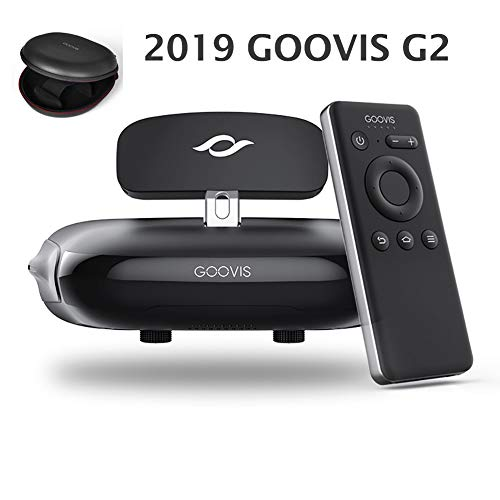 Goovis G2 Cinema VR Headset 3D Theater Goggles with Sony OLED 1920x1080x2,HD Giant Screen Display Compatible with Set-top Box, PS4,Xbox, Nintendo,Drone