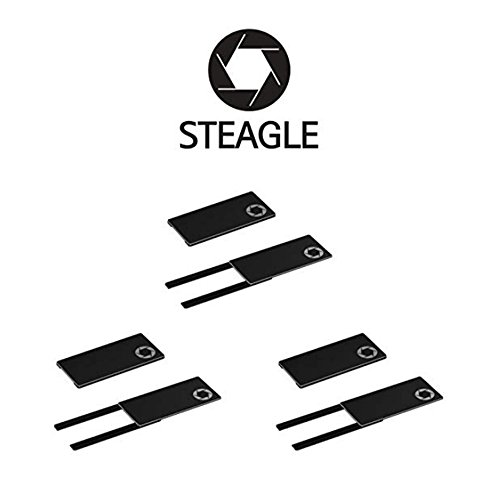 STEAGLE ORIGINAL Three Pack (Black x 3) Premium Laptop Webcam Cover for your privacy – Macbook – Laptop - PC – 0.03 inch ultimate (Original Cover)