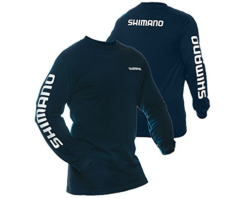 Shimano Long Sleeve T-Shirt, Large, Navy