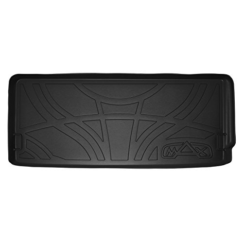 MAX LINER E0158 All Weather Custom Fit Cargo Trunk Liner Floor Mat Behind 3rd Row Seat Black for 2014-2019 Acura MDX