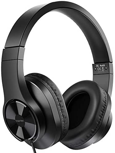 bopmen T3 Wired Over Ear Headphones – Stereo Sound Headphones with Tangle Free Cord Bass Comfortable Headphones, Lightweight Portable for Smartphone Tablet Computer PC Laptop Notebook