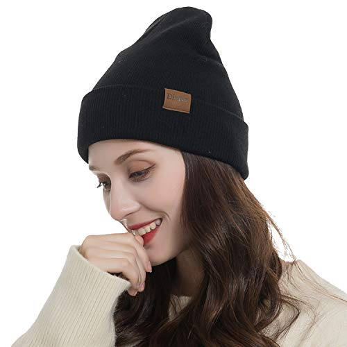 Beanie Cuff (Warm Beanie Hat Men Women Warm Cable Knitted Hat Winter Soft Stretch Chunky Cuff Beanie)
