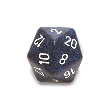 Jumbo d20 Counter - Speckled 34mm Dice: Stealth