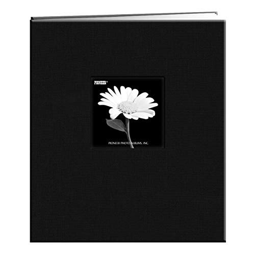 8 1/2 inch by 11 inch fabric frame cover memory book with 10 top loading page protectors and 10 heavy white paper inserts. The book accepts unlimited refills, and its acid-, lignin-, and PVC-free archival design keeps photographs safe over time. Uses...