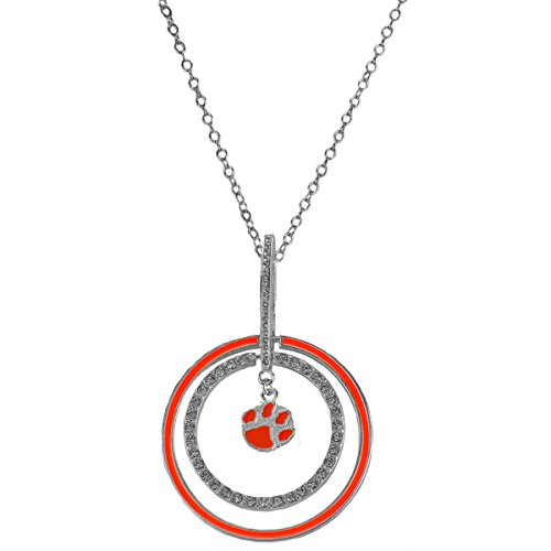 Rosemarie Collections Women's Clemson University Tigers National Championship Pendant Necklace ()