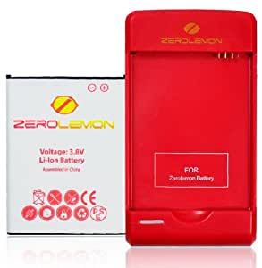 [180 days warranty] ZeroLemon LG Nexus 4 Juicer 2250mAh Removable Battery Pack Only + UltraSpeed Flaming Red 600mA / USB 1000mA Battery Charger (Require ZeroLemon Nexus 4 Juicer Battery Case for use)(LG-N4-Batt-2250+charger)