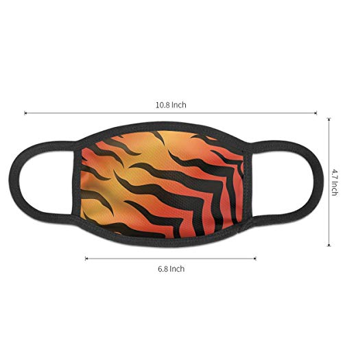 Abstract Tiger Skin Pattern Wildlife Nature Themed Anti-Allergies Earloop Face Mask for Women Men Kids Windproof Face and Nose Cover - Reusable & Washable