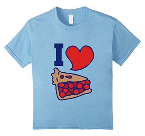 Cherry Pie Top Shirt - Kids I love Cherry pie t-shirt fun cherry pie lovers tee shirts 12 Baby Blue