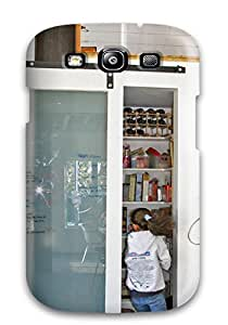 Galaxy S3 Case, Premium Protective Case With Awesome Look - Sliding Glass Pantry Door Serves As Family Message Center
