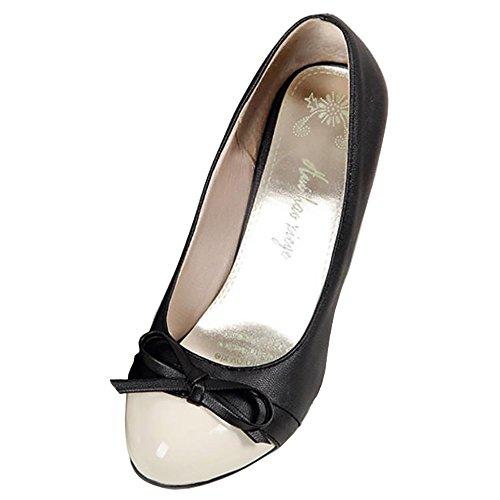 con Lavoro Black Festa Donna Pompe Scarpe de Elegante RAZAMAZA Tacco Alto Arco qUzHXUwa