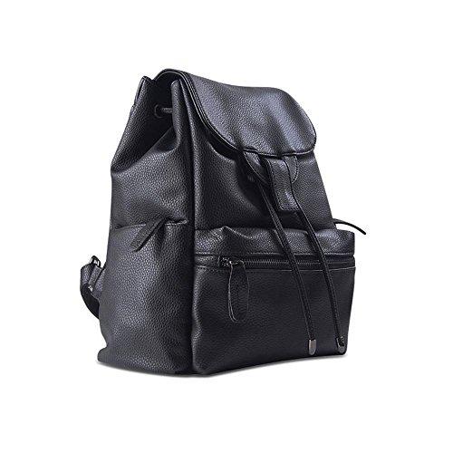 Aoligei Femmes sac double sac à bandoulière fashion college vent loisir multifonctions de la grande capacité sac à dos version coréenne