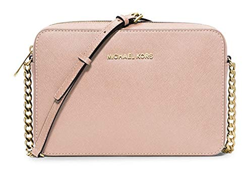 Michael Kors Jet Set Large EW Leather Crossbody, Ballet
