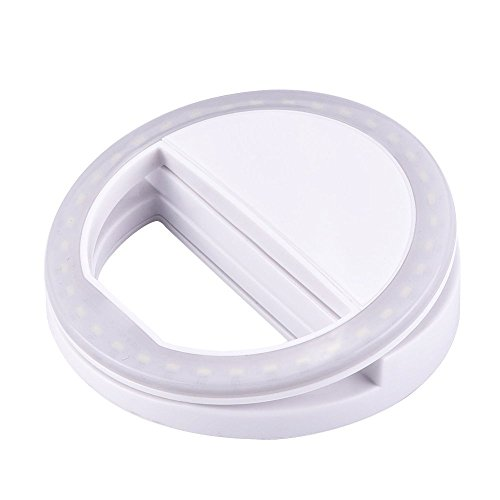 Selfie Ring Light, Selfie 36LED Camera Light Clip On Selfie Ring Light for iPhone iPad Sumsung Galaxy Photography Phones, White