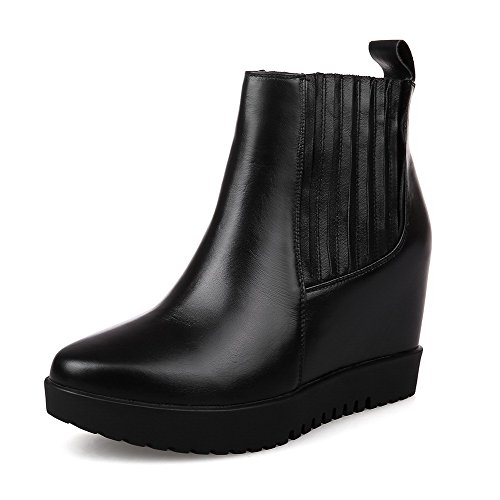Blend Materials Heels Women's Black Wedge Allhqfashion Boots High with TwqFx5RP