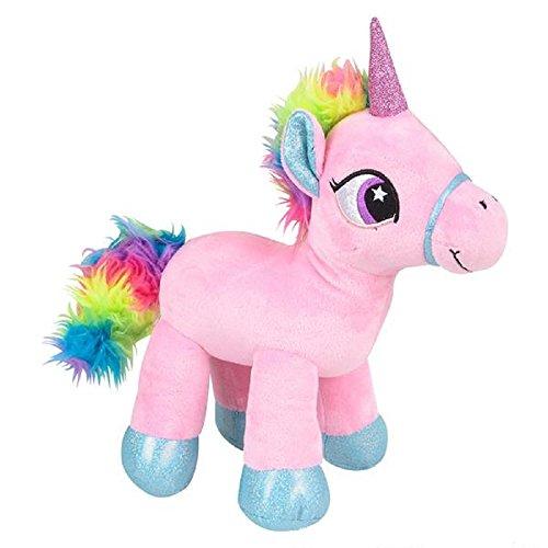 Sparkling Pink Rainbow Unicorn Plush Stuffed Animal Toy