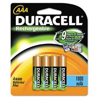 Duracell DC2400B4N AAA NiMh Rechargeable Batteries (4 Pack)