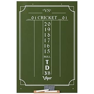"Viper Chalk Scoreboard: Cricket and 01 Dart Games, Green, 23.5"" H x 15.5"" W"