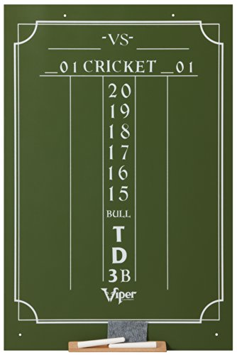 "Viper Chalk Scoreboard: Cricket and 01 Dart Games, Green, 23.5"" H x 15.5"" W"