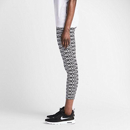 Nike Womens Leg A See All Over Print Leggings Black and White X-Small